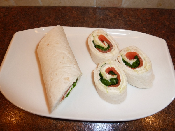 ... or lovely lunch, Smoked Salmon and Spinach Roll-ups are quick to make